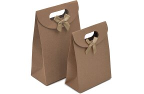 PAPER BAGS CRAFT WITH BOW